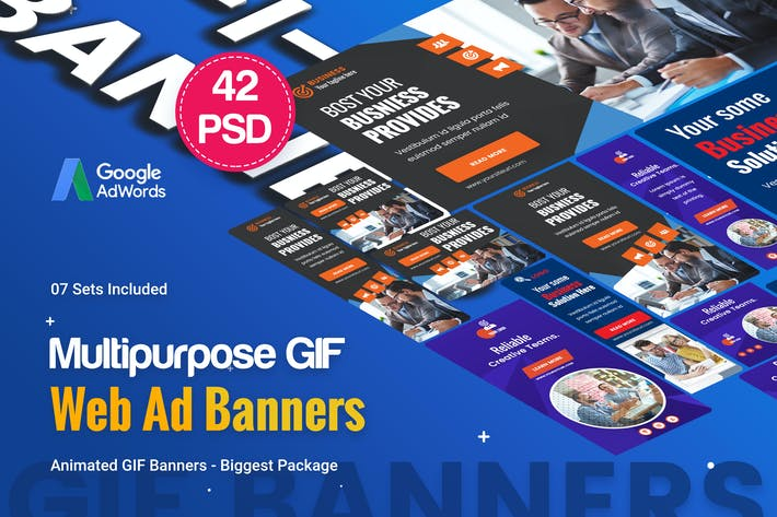 Thumbnail for Animated GIF Multipurpose Banner Ad - 42 PSD