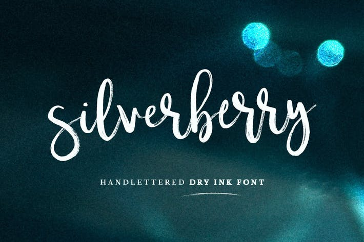Thumbnail for Silverberry - Dry Ink Font