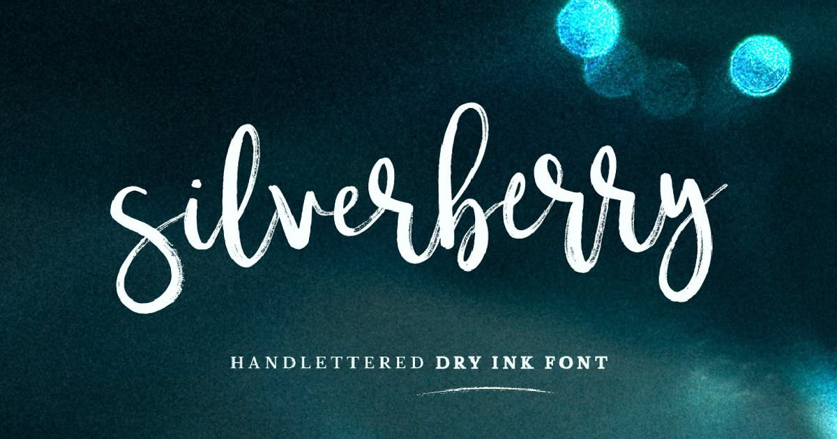 Download Silverberry - Dry Ink Font by MPFphotography