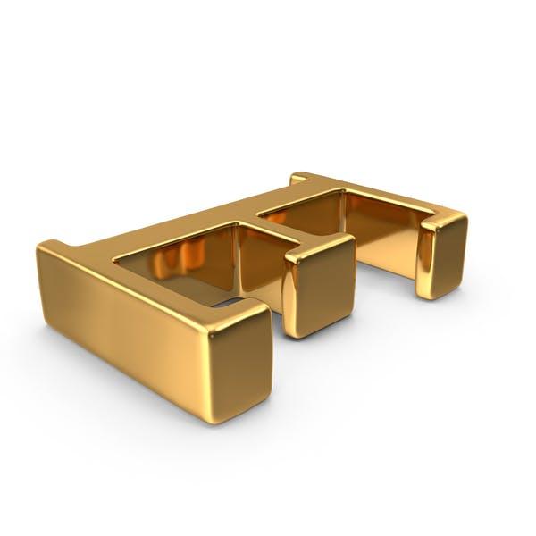 Thumbnail for Gold Capital Letter E