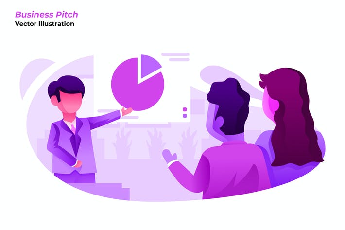 Thumbnail for Business Pitch - Vector Illustration