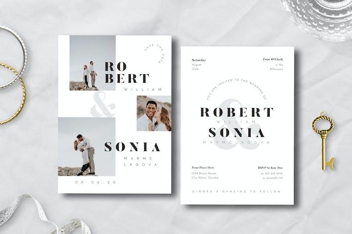 Thumbnail for Einfache Hochzeitseinladung 12