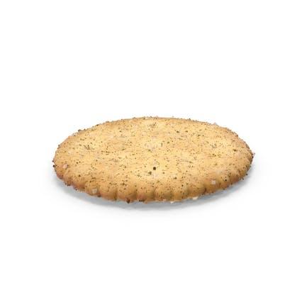 Circular Cracker with Seasoning