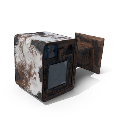 Destroyed Newspaper Box