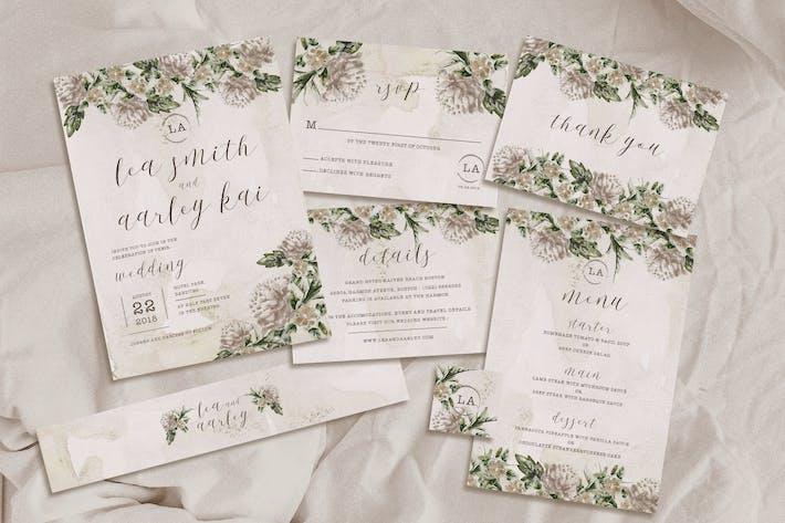 Thumbnail for Flower Wedding Invitation