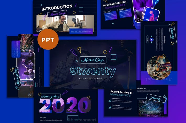 Thumbnail for 9Twenty - Music Industrial Powerpoint Template