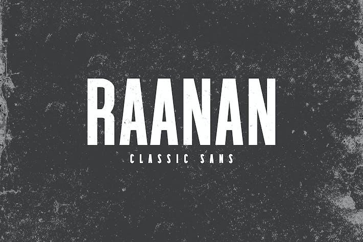 Thumbnail for Raanan Classic Sans Serif Family
