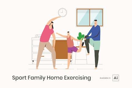 Deportes Familia Ejercicio en Casa