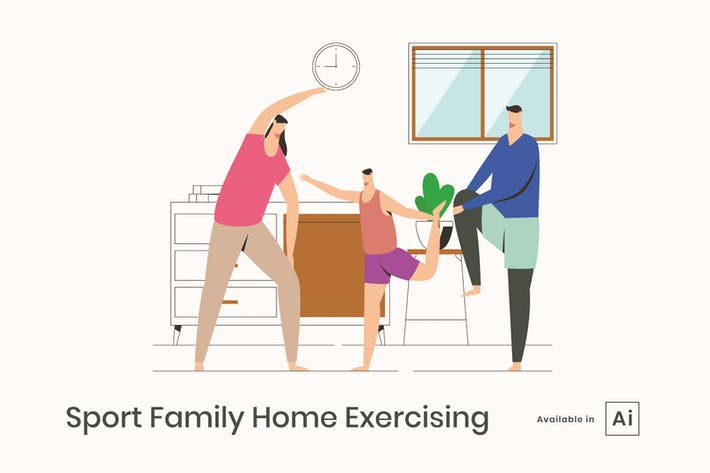 Thumbnail for Sports Family Home Exercising