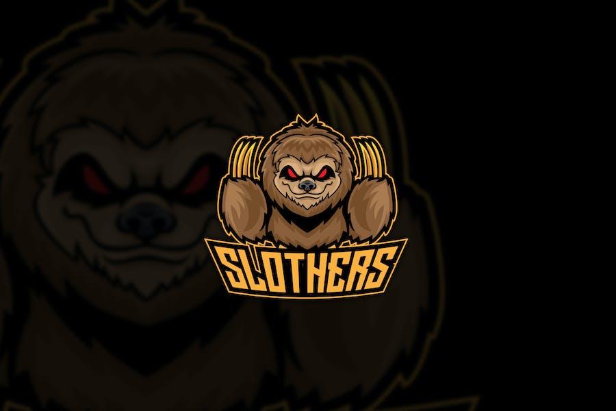 Sloth Angry Esport Logo Mascot