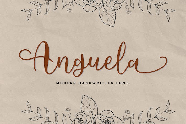 Thumbnail for Anguela Script Modern Calligraphy Handwriting