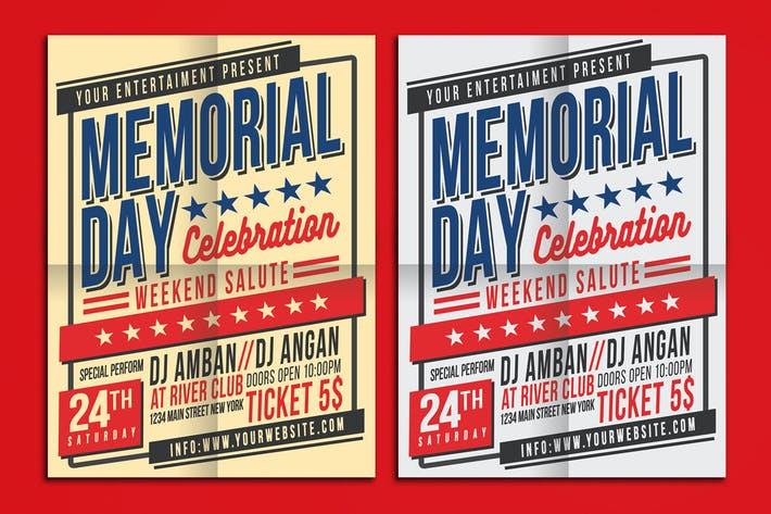 Thumbnail for Memorial Day Celebration Flyer Poster