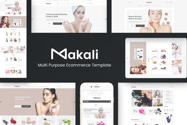 Thumbnail for Makali - Cosmetics & Beauty OpenCart Theme