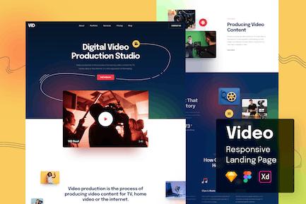 Video Responsive Landingpage