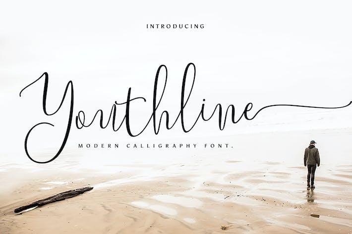 Thumbnail for Youthline Modern Script Font