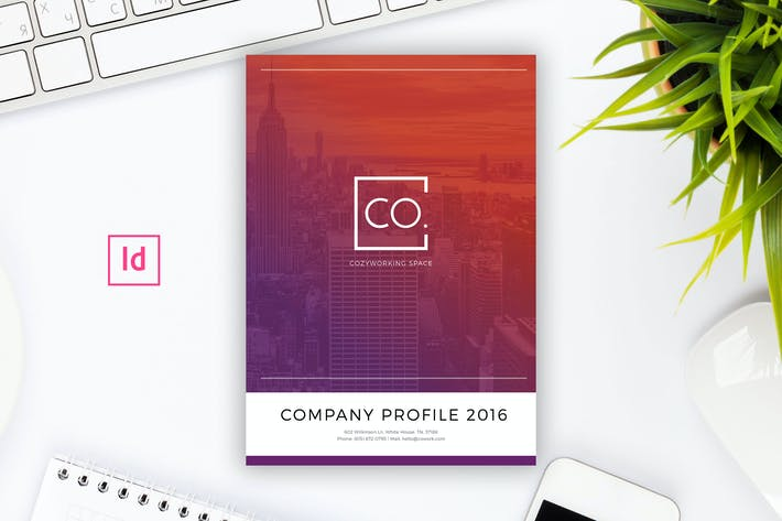 Company profile indesign template by peterdraw on envato elements cover image for company profile indesign template cheaphphosting Images