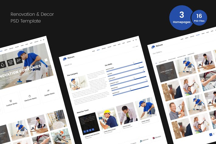Thumbnail for Renovation PSD Template