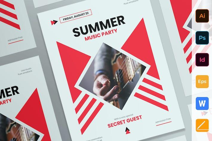 Thumbnail for Летняя музыкальная вечеринка плакат