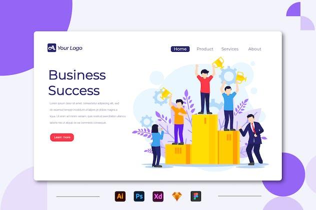 Business Success - Landing page