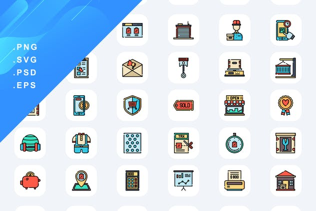 60 Online Shopping Icons
