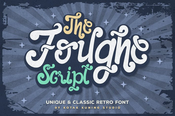 Thumbnail for Fuente The Foughe Retro Script