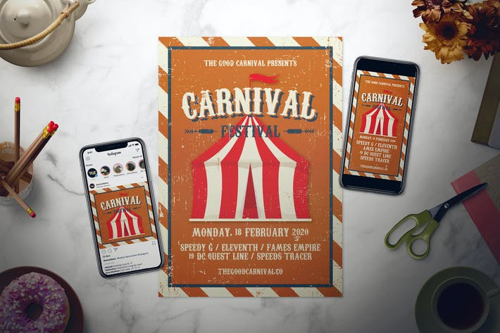 Thumbnail for Carnival Festival Flyer Set