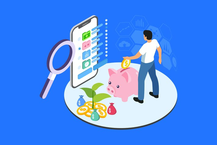 Thumbnail for Diversify Investment Isometric Illustration - TU