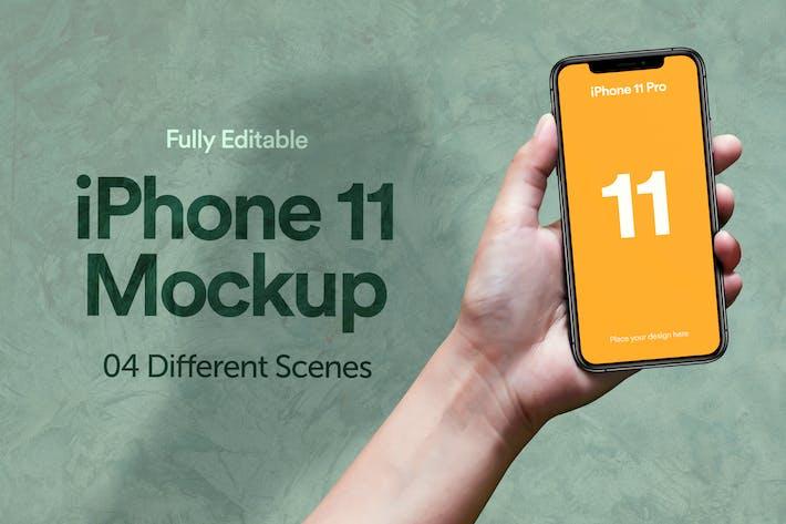 Thumbnail for iPhone 11 Pro Mockup - Vol 06