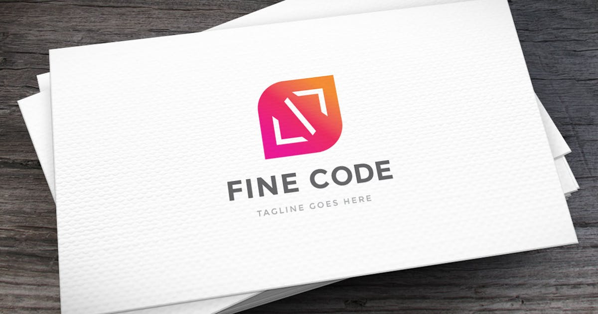 Download Fine Code Logo Template by Unknow