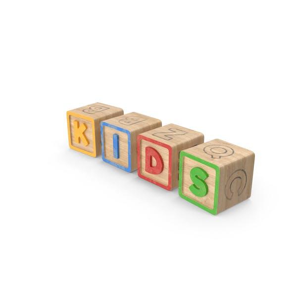 Алфавитные блоки Дети