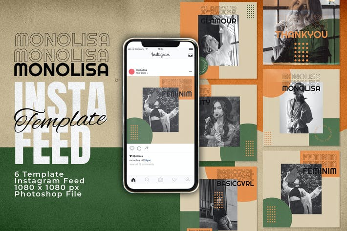 Monolisa Instagram Feed Post Template