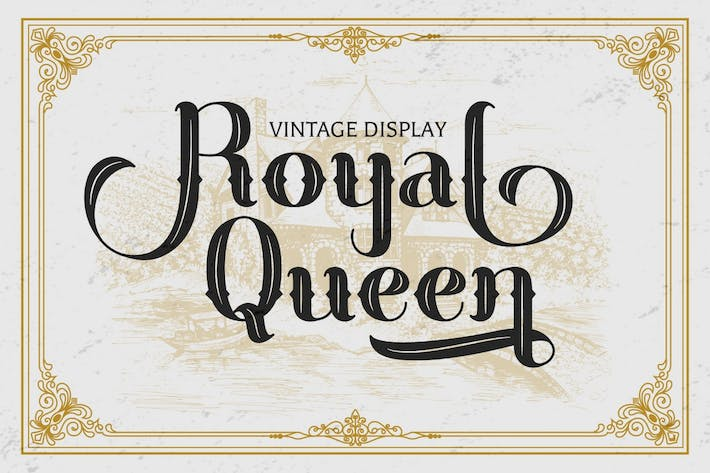 Royal Queen - Fuente de pantalla vintage