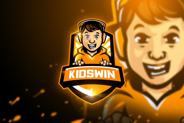 Thumbnail for Kidswin - Mascot & Esport Logo