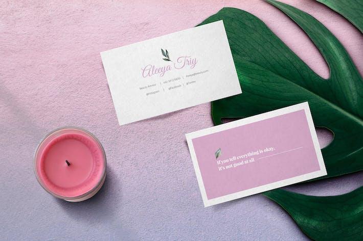 Thumbnail for Feminine Business card
