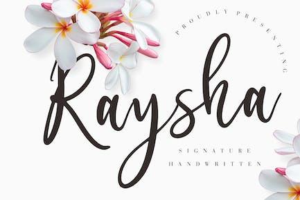 Raysha Signature Wedding Font
