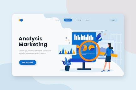 Analytics Marketing Flat Concept Landing Page