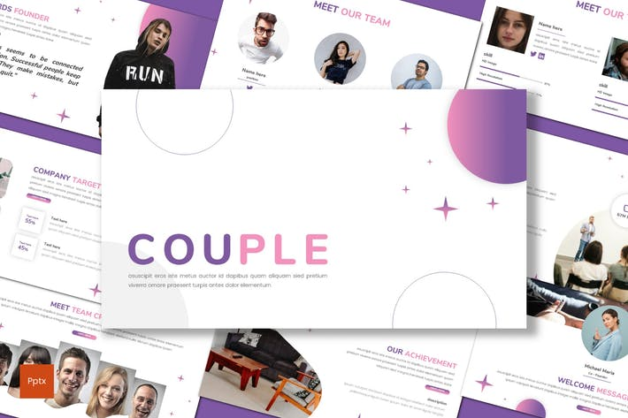 Couple - Business Powerpoint Template