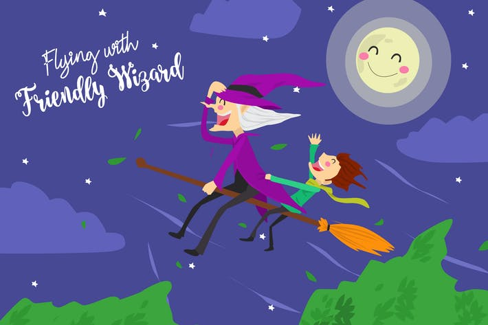 Thumbnail for Flying Friendly - Vector Illustration
