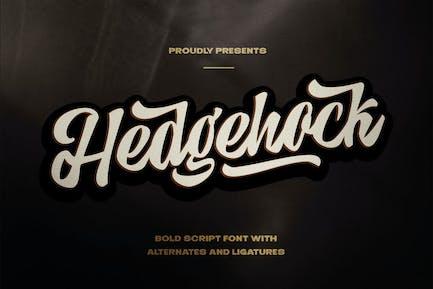 Hedgehock - жирный шрифт Логотип
