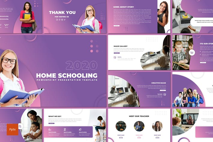 Thumbnail for Home Schooling - Education Powerpoint Template