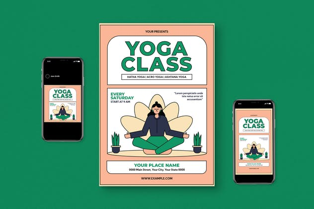Yoga Class Flyer Set