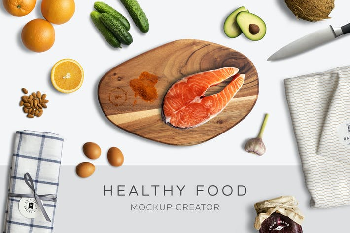 Thumbnail for Healthy Food Mockup Creator