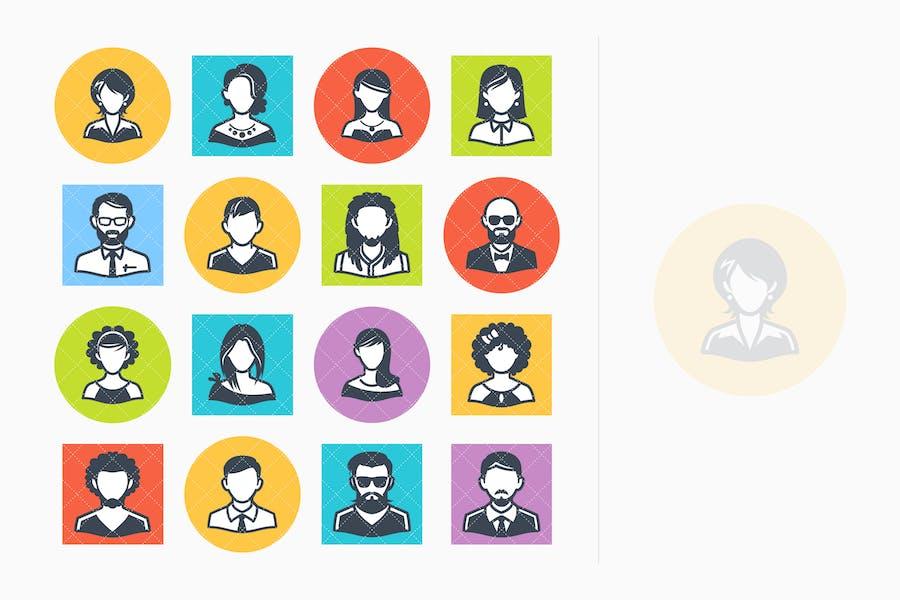 Avatars Icons Set 1 - Colored Series