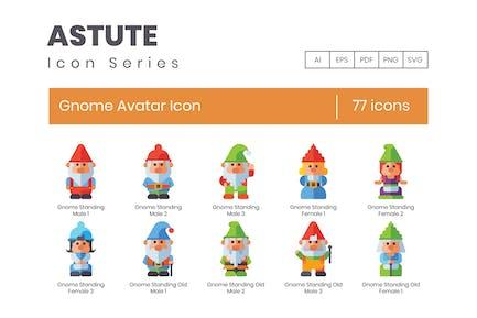 Gnomes Avatar Icon Set