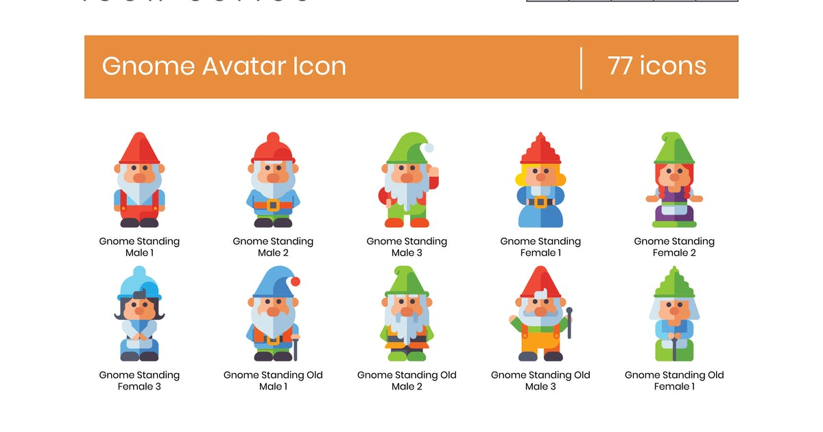 Download Gnomes Avatar Icon Set by Krafted