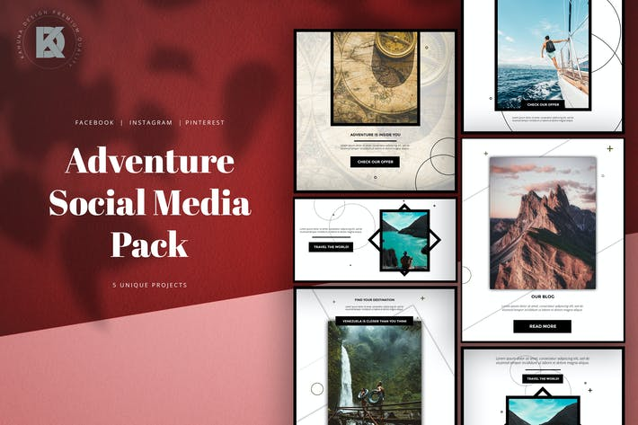 Thumbnail for Adventure Dark Elegant Social Media Pack