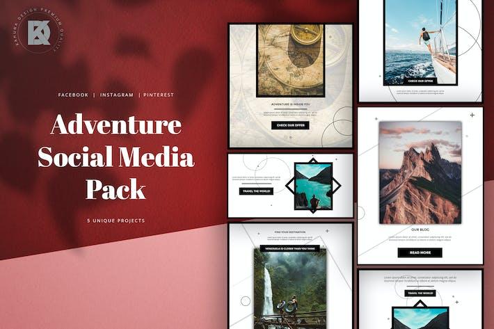 Thumbnail for Pack de médias sociaux Adventure Dark Élégant