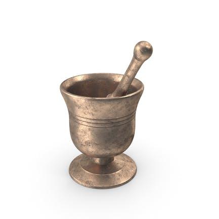 Mortero y mortero de bronce