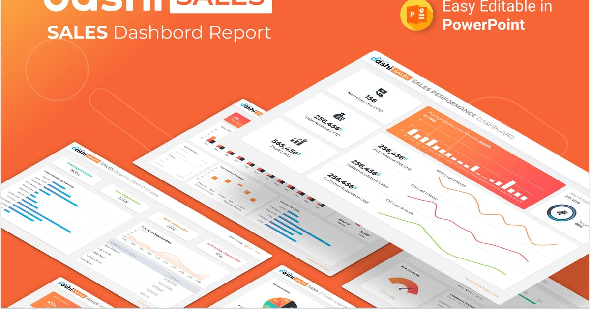 Download Dashi Sales – Sales Dashboard Report Presentation by Premast