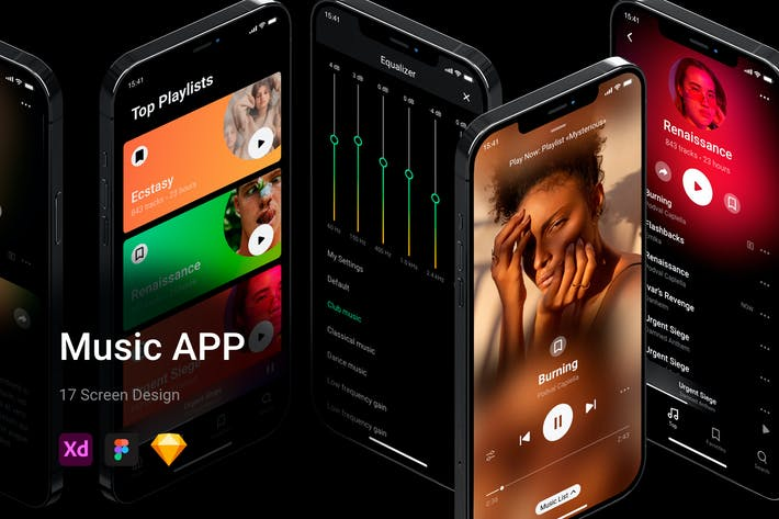 Amazing Music App UI Kit